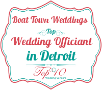 boat town weddings best top detroit local officiants