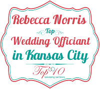 rebecca norris top ordained wedding officiant in kansas city